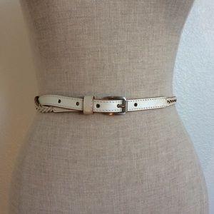 Shimmery Leather Braid belt